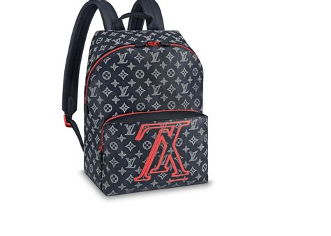 louis vuitton apollo backpack monogram upside  ink navy