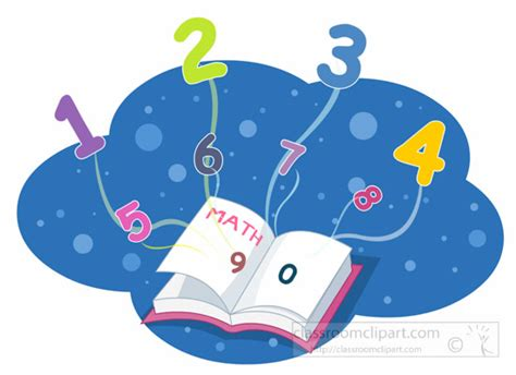 clipart matematica mathematics clipart math book and flying numbers math