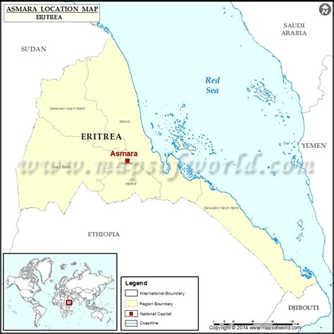 eritrea map where is asmara location of asmara in eritrea map