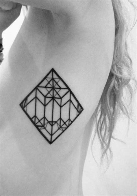 rhombus pattern tattoo symmetrical tattoo rhombus tattos love pinterest