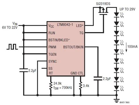led driver diagram led driver using ltm8042 circuit diagram world