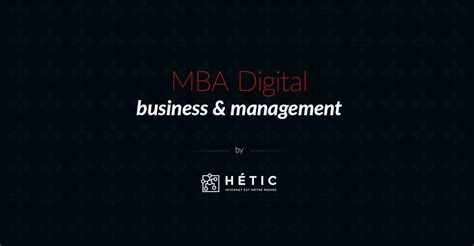 E Business Management Mba mba ebusiness management hetic