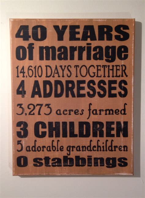 Wedding Anniversary Ideas Parents by 26 Lovely 40 Wedding Anniversary Gift Ideas For Parents