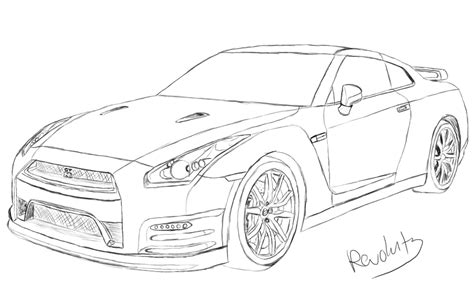nissan skyline drawing step by step nissan gtr drawing by revolut3 on deviantart