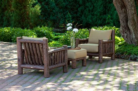 rustic outdoor patio furniture rustic club chair 1276 and rustic ottoman 1277 by la lune collection rustic patio