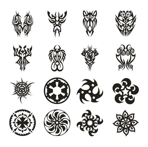 tattoo vector set 3 free vector graphics all free web