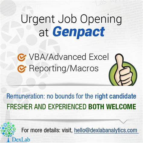 excel tutorial in kolkata genpact is looking for ms excel specialists to