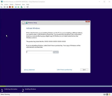 install windows 10 without key how to use virtual machines to test windows 10 insider
