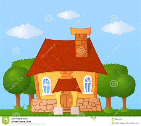 tiny house cartoon cartoon house stock illustration image of grass simple
