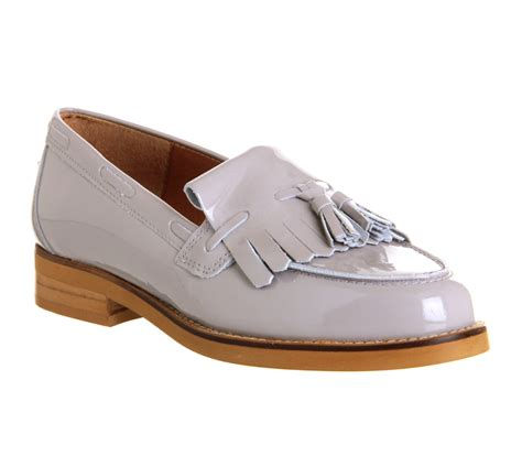 office loafers office extravaganza loafer grey patent leather flats