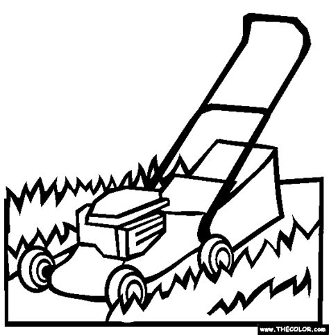 The Lawnmower Coloring Page  Free Online sketch template