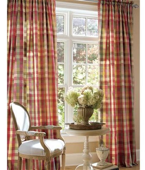 raspberry red curtains french country s 2 plaid drapes 50x84 quot raspberry red new