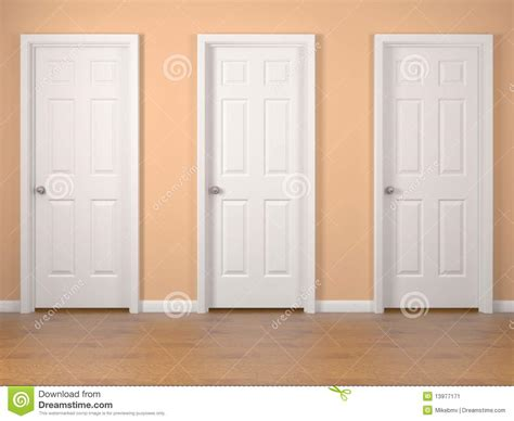 Three Doors by Three Doors Stock Illustration Image Of Access Orange