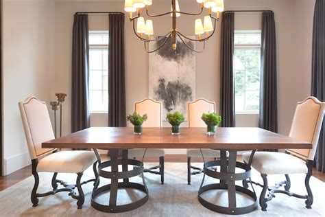 wood and iron dining room table wood and iron dining tables transitional dining room