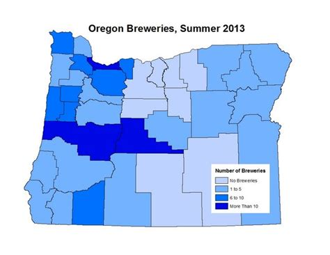 map of oregon breweries oregon a state of the industry report