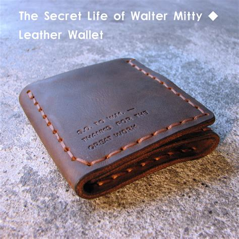 Handmade Mens Leather Wallet - the secret of walter mitty genuine leather wallet