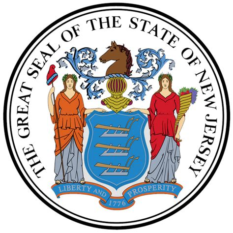 pams50states nj state symbols new jersey state seal