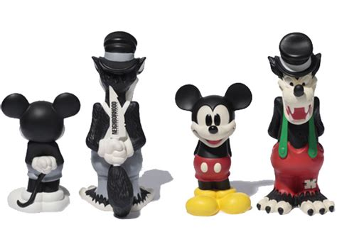 Disney Vinyl Figure Mickey Mouse Gift Idea neighborhood x disney mickey mouse and big bad wolf vinyl figures highsnobiety