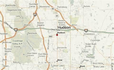 Hudson Ohio Map by Hudson Ohio Location Guide