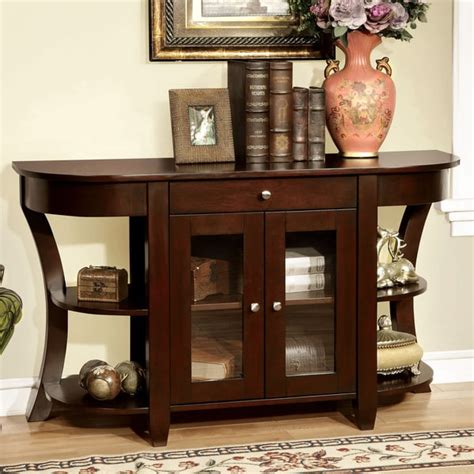 entryway furniture furniture of america roland cherry entryway table free shipping today overstock