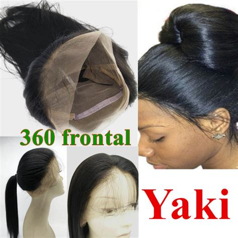 Brazilian virgin 360 Lace Frontal closure light yaki