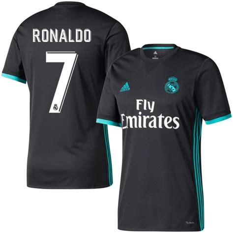 Jersey Real Madrid Away 2017 2018 Official Patch Ucl Wcc real madrid away ronaldo jersey 2017 2018 official printing
