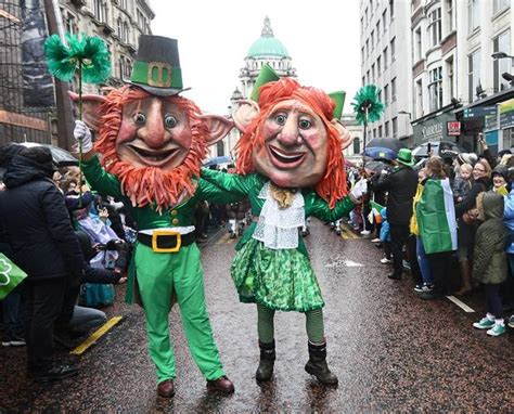 st s day in ireland images st s day 2017 northern ireland awash with a sea of green as thousands defy the for