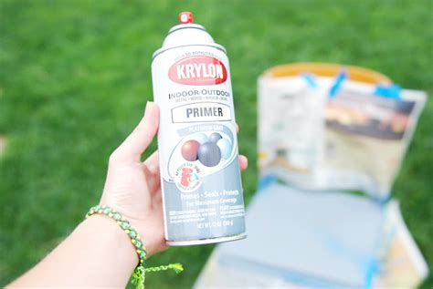 spray painter lungs paper raindrops chair makeover diy