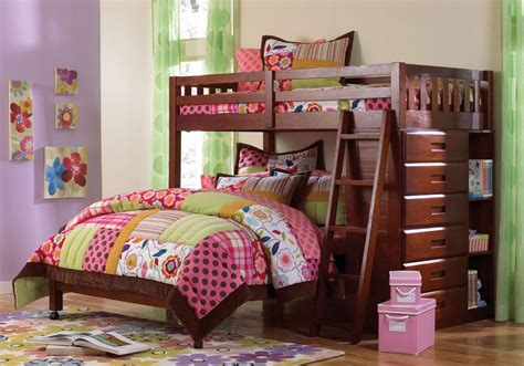 Bedroom In Pink 2805 Twin Over Full Loft Bed
