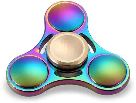 Spinner Rinbaow Spinner Metal montez rainbow triangle ufo metal fidget spinner rainbow triangle ufo metal fidget spinner