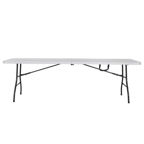 cosco 8 folding table cosco deluxe 8 ft white fold in half molded folding