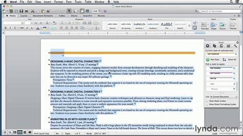 Word And Indesign Tutorial Creating A Word Template With Indesign Styles Lynda Com Youtube Word Styles Templates