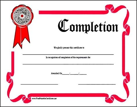 training completion certificate template sle templates