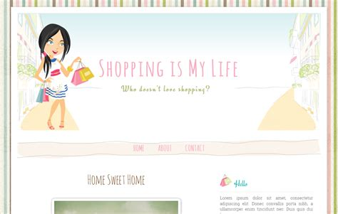 blogger online shop shopping girl free premium blogger template ipietoon