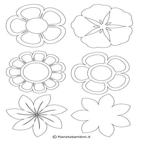 immagini di fiori da colorare 54 sagome di fiori da colorare e ritagliare per bambini