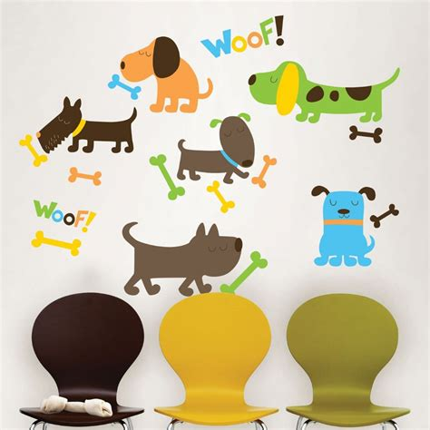 puppy wall stickers puppy wall sticker set