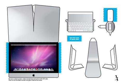 Laptop Papercraft - paper imac 4 8 quot