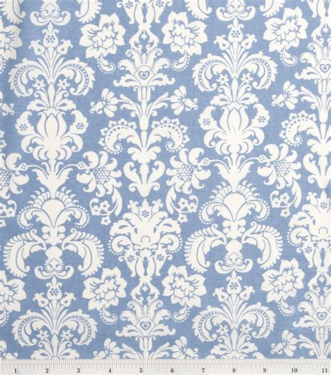 Home Decor Online Shopping Sites keepsake calico fabric baroque damask blue amp white at