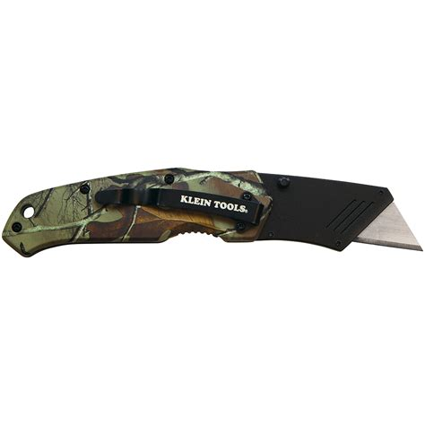utility knif folding utility knife camo assisted open 44135 klein