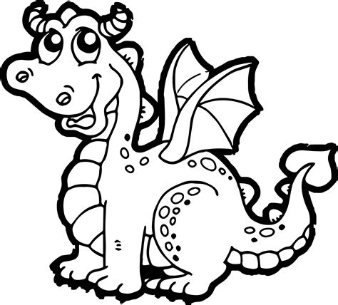 cartoon dragon coloring pages wecoloringpage