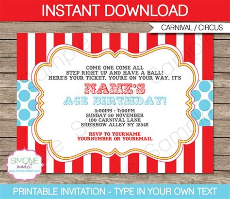 carnival themed invitations best 25 carnival party invitations ideas on pinterest