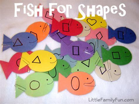 little family fun shape house educational craft little family fun fish for shapes