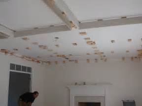 Diy Coffered Ceiling Ideas Design Dump House 5 Family Room Before After