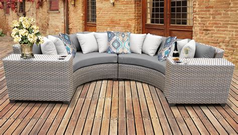 florence  piece outdoor wicker patio furniture set