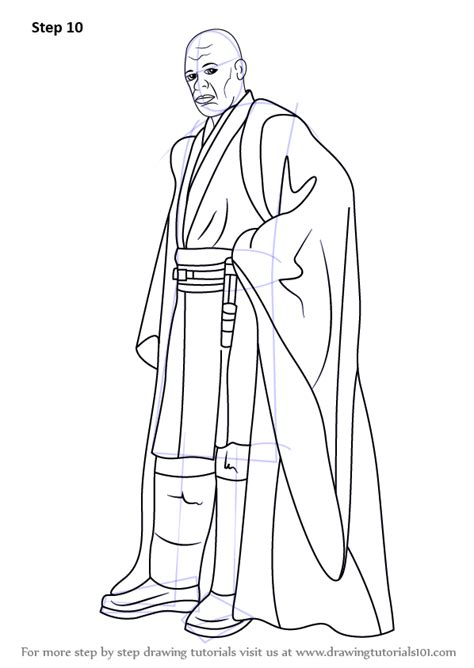 Mace Windu Coloring Pages learn how to draw mace windu from wars wars