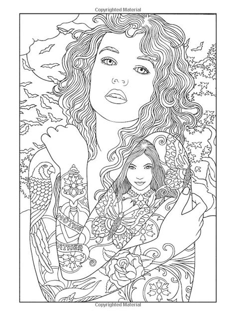 coloring book page tattoo free steunk coloring pages