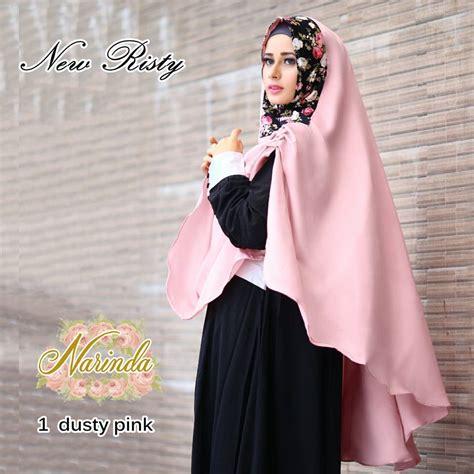 Yl New Khimar Risty jual new risty khimar by narinda toko jilbab branded instan kerudung terbaru