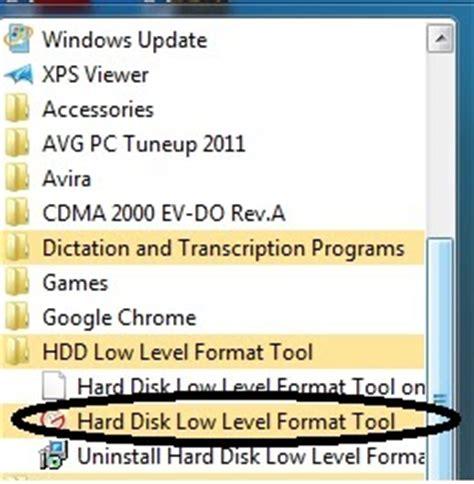 low level format adalah cara low level format di harddisk tutorial dan informasi