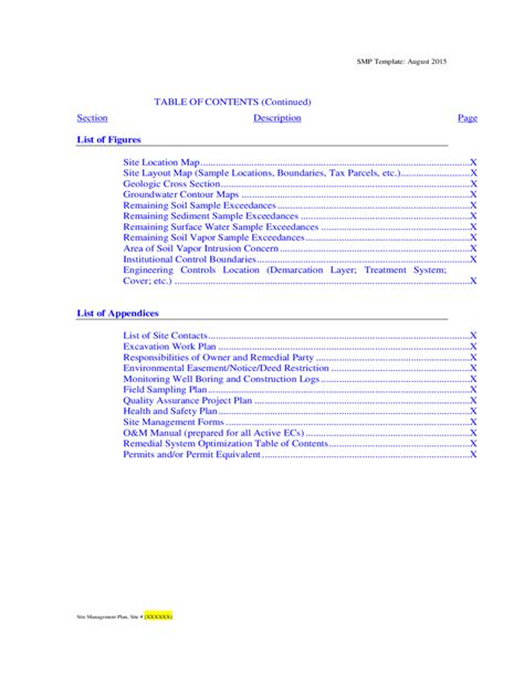 site management plan template new york free