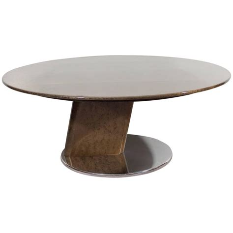 A Saporiti Modernist Coffee Table In Lacquered Birdseye Birdseye Maple Coffee Table